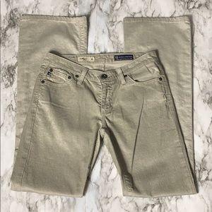 Adriano Goldschmeid Tan Corduroy Bootcut Jeans 27R